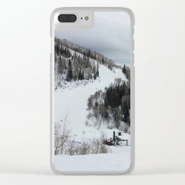 Colorado Slopes Clear iPhone Case