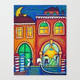 Venice Romance Cats Canvas Print