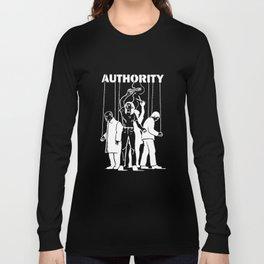 Cut the Strings of Authority Anti Illuminati Occult New World Order Agenda Activist Truther Conspira Long Sleeve T-shirt