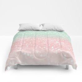 Pastel Summer Glitter #1 (Faux Glitter - Photography) #shiny #decor #art #society6 Comforters
