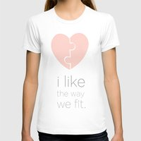 psych T-shirts featuring i like the way we fit.. shawn and juliet.. psych..  by studiomarshallarts
