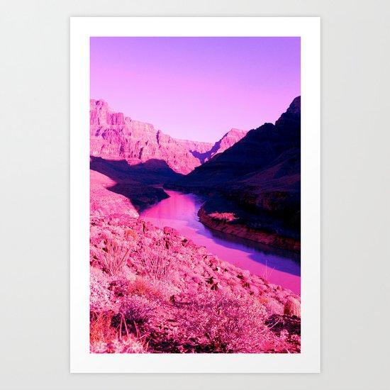 PinkCanyon Art Print