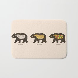 The Eating Habits of Bears Bath Mat