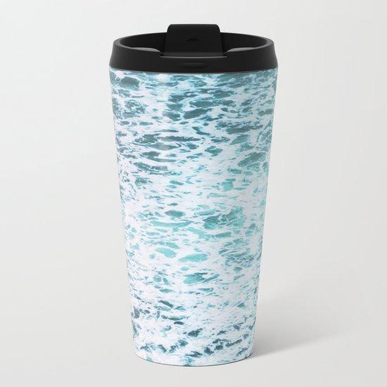 Faded Waves Metal Travel Mug