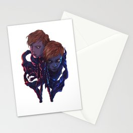 Lara and Leon Stationery Cards