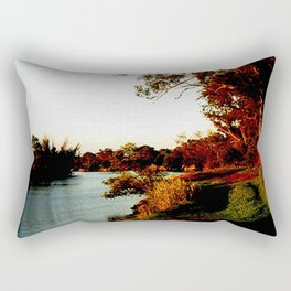 Sunsets on the river bank gum Trees Rectangular Pillow