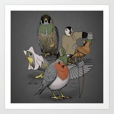 Robin and his merry friends. Art Print