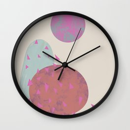 Trees in wind Wall Clock