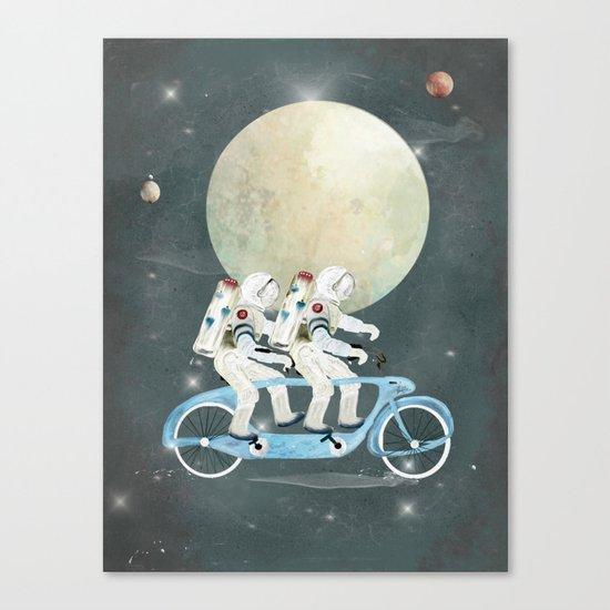 space tandem Canvas Print