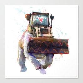 Dozer Bulldozer Canvas Print