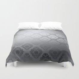 """""""Neutral gray Damask Pattern"""" Duvet Cover"""