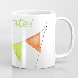 Let's Celebrate - Rainbow Connection Banner Coffee Mug