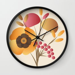 Memorable Florals Wall Clock