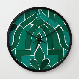 Moroccan Tile Wall Clock