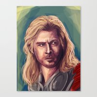 thor Canvas Prints featuring Thor by pandatails