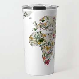 Vintage Botanical World Travel Mug