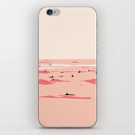 Sunset Tiny Surfers in Lima Illustrated iPhone Skin