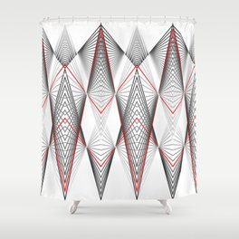 Hectic movement Shower Curtain