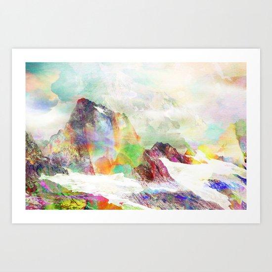 Glitch Mountain Art Print