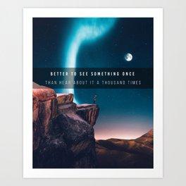 Aurora Boreale Art Print