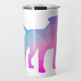 American Bulldog Poly Geometric Design Travel Mug