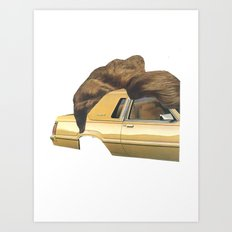 hair piece #2 Art Print