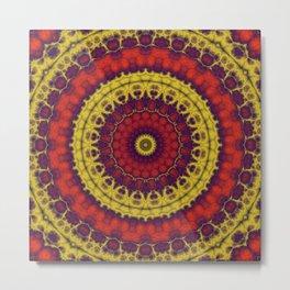 Mandala Fractal in Indian Summer 01 Metal Print