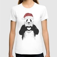 santa T-shirts featuring Santa panda by Balazs Solti