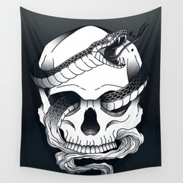 Invidia (Envy) - Seventh of the Seven Deadly Sins - Black Wall Tapestry