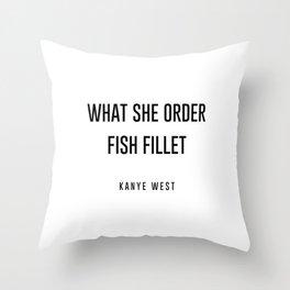 Fish fillet Throw Pillow