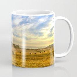 Hay Bales in Autumn Sun Coffee Mug