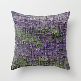 Lavender Hues Abstract Throw Pillow