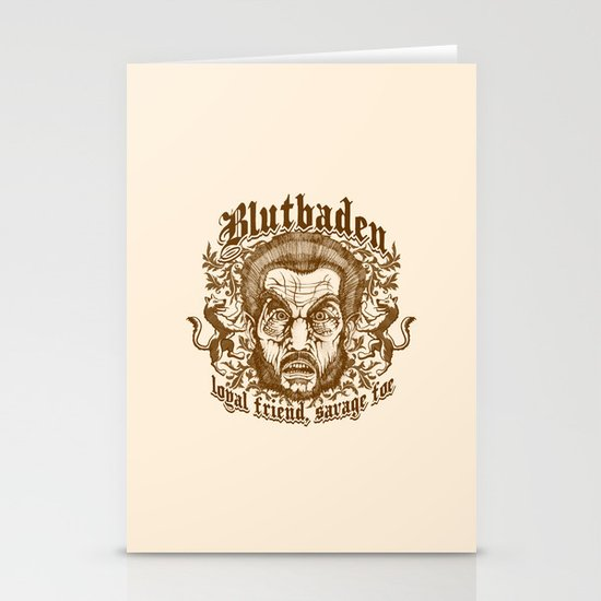 Blutbaden Sepia Stationery Cards