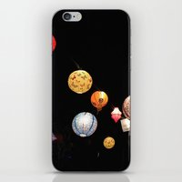 greg guillemin iPhone & iPod Skins featuring Lanterns - Greg Katz by Artlala for MSF Doctors Without Borders