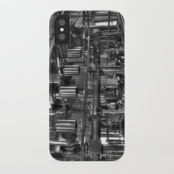 Steam valves in black and white iPhone Case