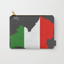 Molise map with Italian national flag illustration Carry-All Pouch