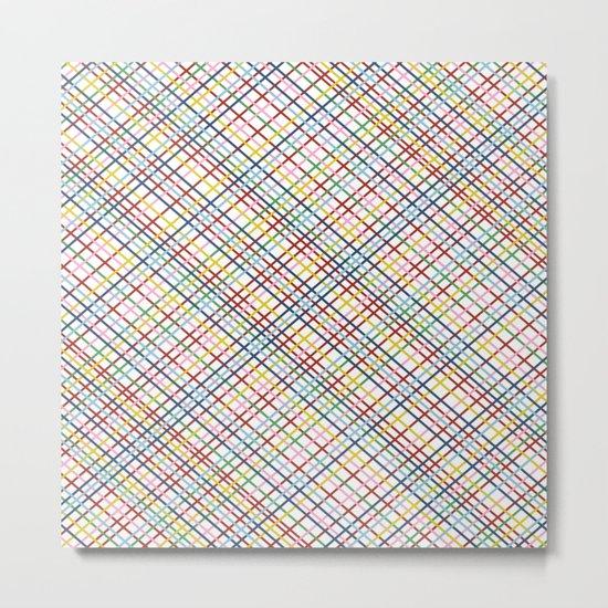 Rainbow Weave 45 Metal Print