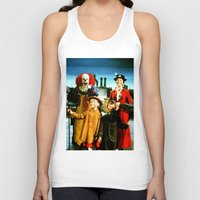 mary poppins Tank Tops featuring PENNYWISE IN MARY POPPINS by Luigi Tarini