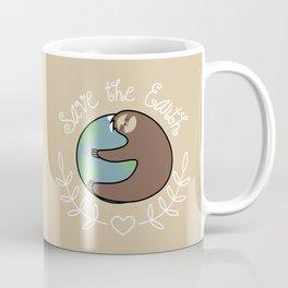 Save The Earth Sloth Coffee Mug