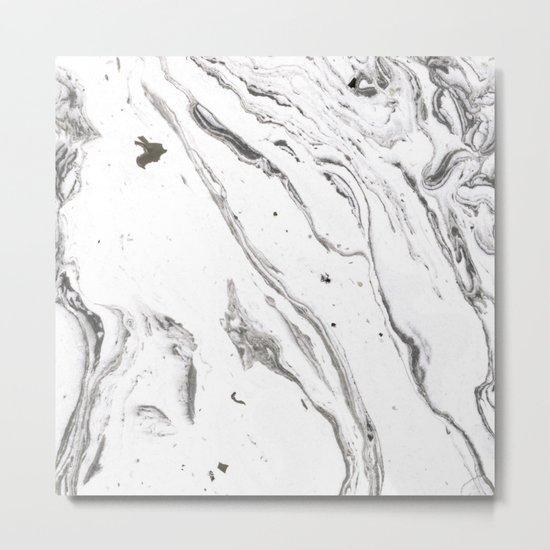 Minimalist marble Metal Print