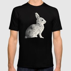 Rabbit LARGE Black Mens Fitted Tee
