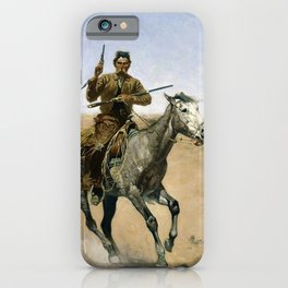 Frederic Remington - The Flight - Digital Remastered Edition iPhone Case