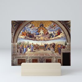 Disputation of the Holy Sacrament by Raphael Mini Art Print