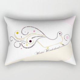 Typographic Christmas Sleigh Rectangular Pillow