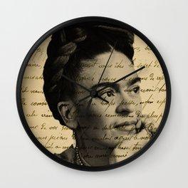 Letter Frida Kahlo Wall Clock