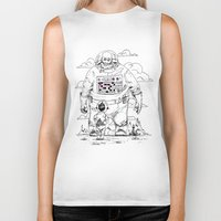 dad Biker Tanks featuring Space Dad by Michael Byers