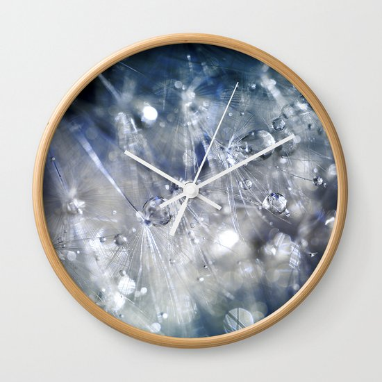 New Year's Blue Champagne Wall Clock