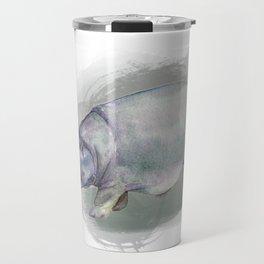 Watercolor Hippo Travel Mug