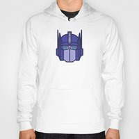 optimus prime Hoodies featuring Optimus Prime by M. Gulin