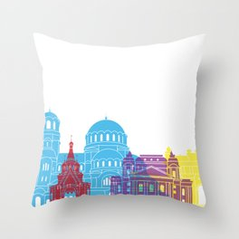 Sofia skyline pop Throw Pillow